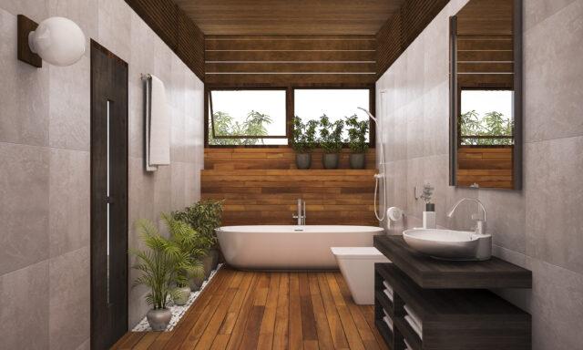 Maderas tropicales para baños y lavabos